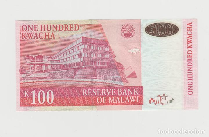 Billetes extranjeros: MALAWI- 100 KWACHA 1989-SC - Foto 2 - 169157300