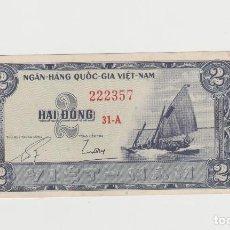 Billetes extranjeros: VIETNAM- 2 DONG- SC. Lote 169162172