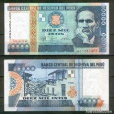Billetes extranjeros: PERU : 10000 INTIS. 1988. SC.UNC. PK.140. Lote 194915286