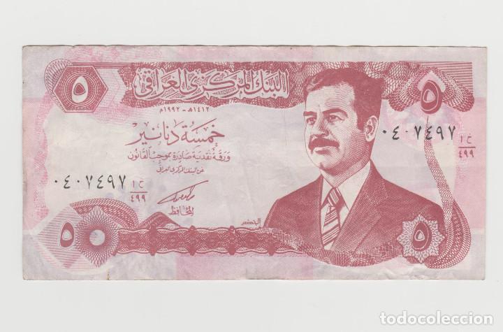 IRAQ- 5 DINARES (Numismática - Notafilia - Billetes Extranjeros)