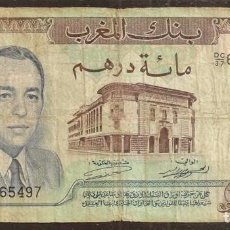 Billetes extranjeros: MARRUECOS. 100 DIRHAMS 1970. PICK 59 A.. Lote 169466521