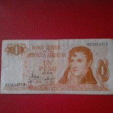 Billetes extranjeros: BANCO ARGENTINA UN PESO. Lote 169733873