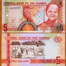 Billetes extranjeros: GAMBIA - 5 DALASIS - SIN FECHA (2013) - S/C. Lote 169749589