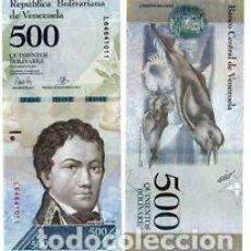 Billetes extranjeros: VENEZUELA 500 BOLIVARES 2017 UNC. Lote 169776752