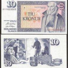 Billetes extranjeros: ISLANDIA. 10 KRONUR L.1961. S/C. FIRMA 42.. Lote 243864230
