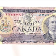 Billetes extranjeros: BILLETE DE 10 DÓLARES DE CANADÁ DE 1971. EBC. WORLD PAPER MONEY-88D (BE173). Lote 170017588