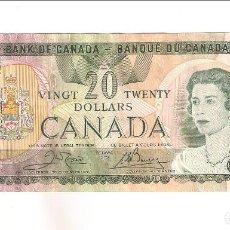 Billetes extranjeros: BILLETE DE 20 DÓLARES DE CANADÁ DE 1979. EBC. WORLD PAPER MONEY-93B (BE180). Lote 170018176