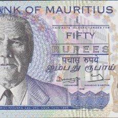 Billetes extranjeros: BILLETES - MAURICIOS - 50 RUPIAS 1998 - SERIE BB478451 - PICK-43 (SC). Lote 170453482