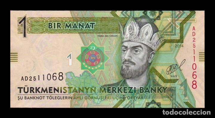 TURKMENISTAN 1 MANAT 2014 PICK 29B SC UNC (Numismática - Notafilia - Billetes Extranjeros)