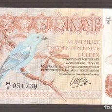 Billetes extranjeros: BILLETE DE AMERICA SURINAME 2 1/2 GULDEN 1985 PLANCHA . Lote 170939010