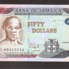 Billetes extranjeros: BILLETE DE AMERICA JAMAICA PLANCHA 50 DOLARES 2017. Lote 171050903