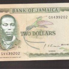 Billetes extranjeros: BILLETE DE AMERICA JAMAICA PLANCHA 2 DOLARES 1992. Lote 171051119
