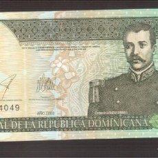 Billetes extranjeros: BILLETE DE AMERICA REPUBLICA DOMINICANA 2003 PLANCHA . Lote 171052327