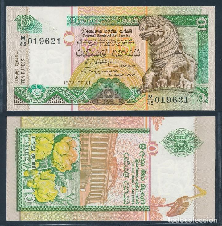 SRI LANKA - 10 RUPEES - (1992-07-01) - S/C (Numismática - Notafilia - Billetes Extranjeros)