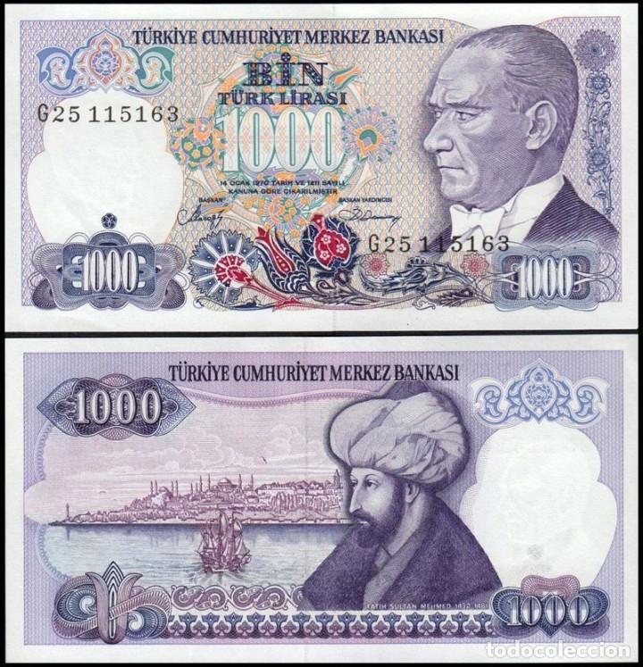 TURQUIA - 1000 TURK LIRASI - SIN FECHA (1986) - S/C (Numismática - Notafilia - Billetes Extranjeros)
