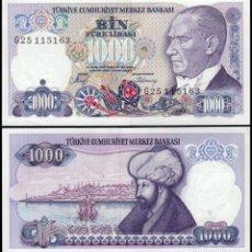 Billetes extranjeros: TURQUIA - 1000 TURK LIRASI - SIN FECHA (1986) - S/C. Lote 171075265