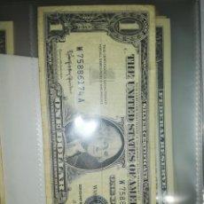 Billetes extranjeros: USA BILLETE 1 DÓLAR SELLO AZUL. Lote 171086403