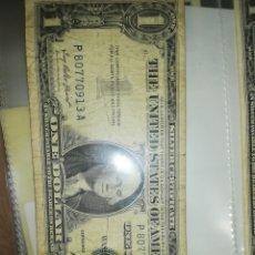 Billetes extranjeros: USA 1 DOLAR SELLO AZUL. Lote 183383795