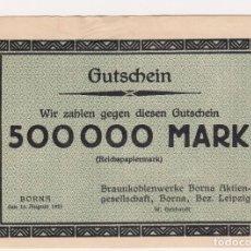 Billetes extranjeros: ESCASO Y BUSCADO BILLETE 500000 MARK BORNA 15/AGOSTO/1923 . Lote 171177194