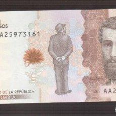 Billetes extranjeros: BILLETE DE AMERICA COLOMBIA PLANCHA . Lote 171345944