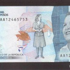 Billetes extranjeros: BILLETE DE AMERICA COLOMBIA PLANCHA . Lote 171346543