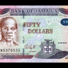 Billetes extranjeros: JAMAICA 50 DOLLARS 2018 PICK NUEVO HÍBRIDO SC UNC. Lote 210628592