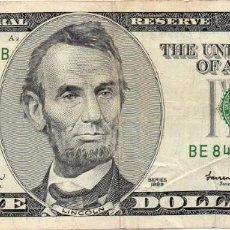 Billetes extranjeros: ESTADOS UNIDOS, 5 DOLARES, LICOLN, SERIES 1999. Lote 171429824
