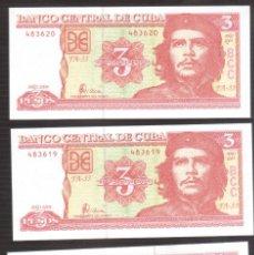 Billetes extranjeros: BILLETE DE AMERICA CUBA CHE PLANCHA 5 BILLETES . Lote 171446712