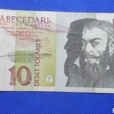 Billetes extranjeros: ESLOVENIA 10 TOLARJEV 1992. Lote 171545254
