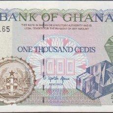 Billetes extranjeros: BILLETES - GHANA - 1000 CEDIS 1996 - SERIE 23/A - PICK-29B - (SC). Lote 171578723