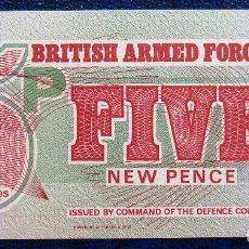 Billetes extranjeros: INGLATERRA GRAN BRETAÑA MILITAR BILLETE DE 5 PENCE DE 1972 S/C. Lote 171581388