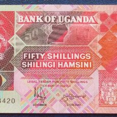 Billetes extranjeros: UGANDA BILLETE DE 50 SHILLINGS DE 1994 S/C S/C. Lote 171586219