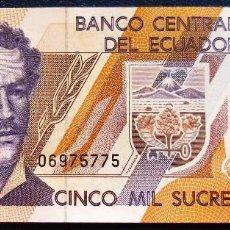 Billetes extranjeros: ECUADOR BILLETE DE 5000 SUCRES S/C. Lote 171586589