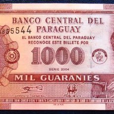 Billetes extranjeros: PARAGUAY BILLETE DE 1000 GUARANIES DEL 2004 S/C. Lote 171586678