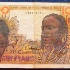 Billetes extranjeros: OESTE DE AFRICA BILLETE DE 100 FRANCOS EN MUY BUEN ESTADO. Lote 171587564