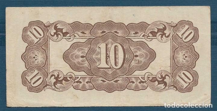 Billetes extranjeros: 10 centavos 1942 gobierno japón sobre Filipinas S/N PR guerra del pacífico XF- - Foto 2 - 171591638
