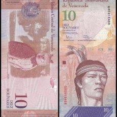 Billetes extranjeros: VENEZUELA - 10 BOLIVARES - 3 DE FEBRERO DE 2011 - S/C. Lote 171618514