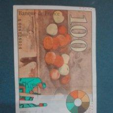 Billetes extranjeros: BILLETE DE 100 FRANCOS. PAUL CÉZANNE. BANQUE DE FRANCE 1.997 CONSERVACIÓN: MBC. Lote 171645773