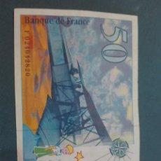 Billetes extranjeros: BILLETE DE 50 FRANCOS. ANTOINE DE SAINT-EXUPÉRIE. BANQUE DE FRANCE 1.994 CONSERVACIÓN: MBC. Lote 171645950