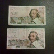 Billetes extranjeros: 2 BILLETES ANTIGUOS.. Lote 171740789