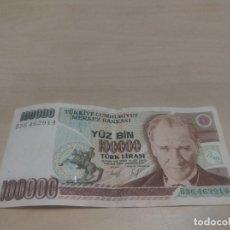 Billetes extranjeros: BILLETE DE 100000 TURK LIRASI. Lote 171831857