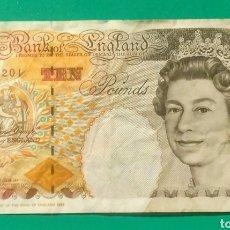 Billetes extranjeros: 1993. BILLETE 10 LIBRAS. INGLATERRA. MBC.. Lote 172026127