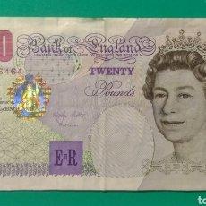 Billetes extranjeros: 1999. BILLETE 20 LIBRAS. INGLATERRA. MBC.. Lote 172027325