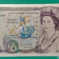 Billetes extranjeros: 1970. BILLETE 20 LIBRAS. INGLATERRA. EBC++. Lote 172028817