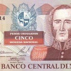 Billetes extranjeros: URUGUAY 5 PESOS URUGUAYOS 1997. PICK 73A. SIN CIRCULAR. Lote 195491377
