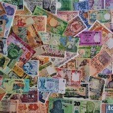 Billetes extranjeros: GRAN LOTE 125 BILLETES DEL MUNDO CALIDAD UNC TODOS DIFERENTES. Lote 172175275
