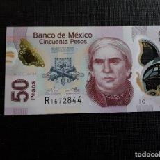 Billetes extranjeros: MEXICO 50 PESOS POLIMERO 2015 PICK 123AEQ SC . Lote 172176782