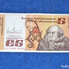 Billetes extranjeros: BILLETE DE IRLANDA - 5 LIBRAS - EN MUY BUEN ESTADO. Lote 172277384