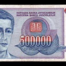 Banconote internazionali: YUGOSLAVIA 500000 DINARA 1993 PICK 119 BC F. Lote 243552550