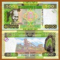 Billetes extranjeros: REPUBLICA DE GUINEA - 500 FRANCS - AÑO 2015 - S/C. Lote 172308047